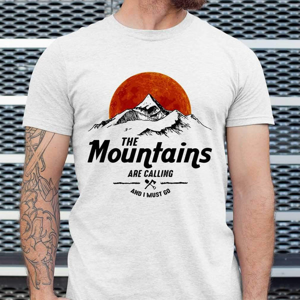 Hiking The Mountains Are Calling And I Must Go Sunshine T-shirt S By AllezyShirt