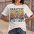 Hippie Yoga Girl Namastay 6 Feet Away Weed Vintage T-shirt