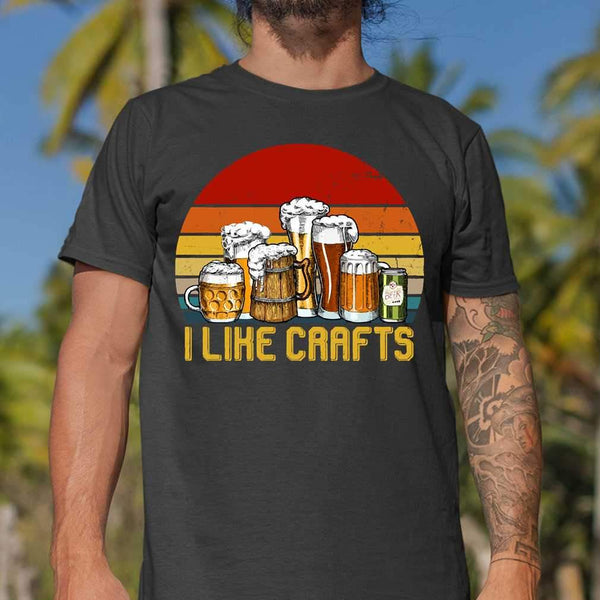 I Like Crafts Beer Vintage Gifts For Craft Beer Lovers T-shirt S By AllezyShirt
