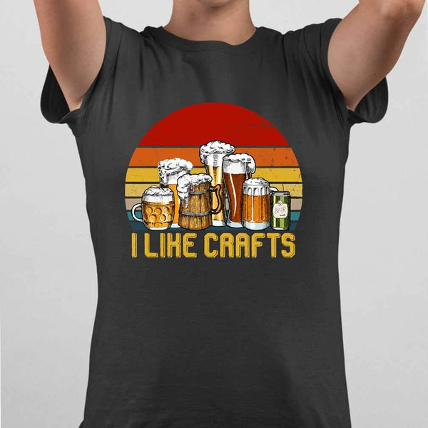 I Like Crafts Beer Vintage Gifts For Craft Beer Lovers T-shirt M By AllezyShirt
