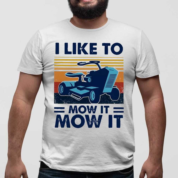I Love To Mow It Mow It Mowing Machine Mower Vintage T-shirt S By AllezyShirt