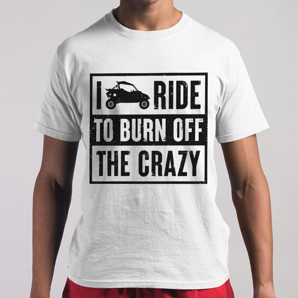 I Ride To Burn Off The Crazy T-shirt M By AllezyShirt