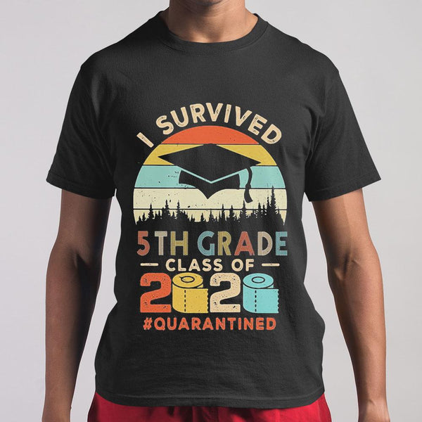 I Survived 5Th Grade Class Of 2020 Quarantined Toilet Paper T-shirt S By AllezyShirt