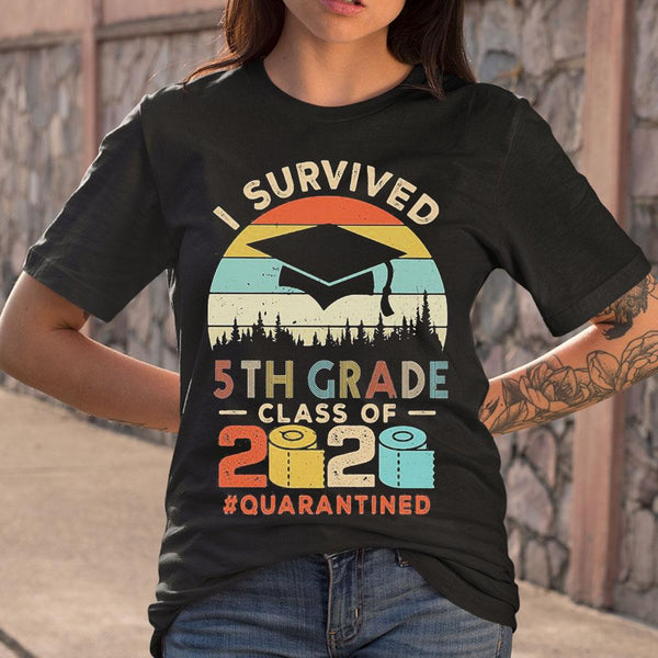 I Survived 5Th Grade Class Of 2020 Quarantined Toilet Paper T-shirt M By AllezyShirt