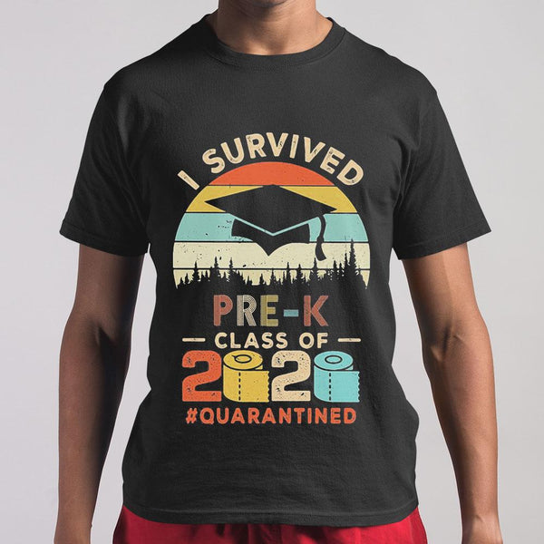 I Survived Pre-K Class Of 2020 Quarantined Toilet Paper T-shirt S By AllezyShirt
