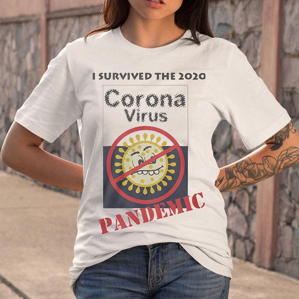 I Survived The 2020 Corona Virus Pandemic T-shirt S By AllezyShirt
