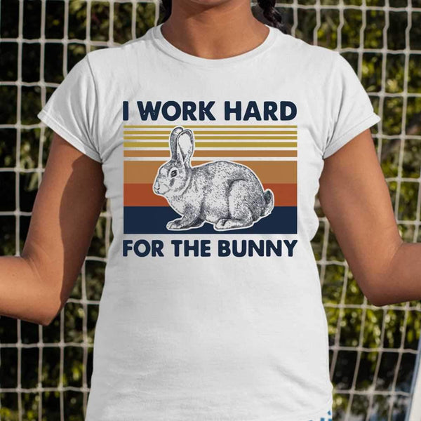 I Work Hard For The Bunny Vintage T-shirt S By AllezyShirt