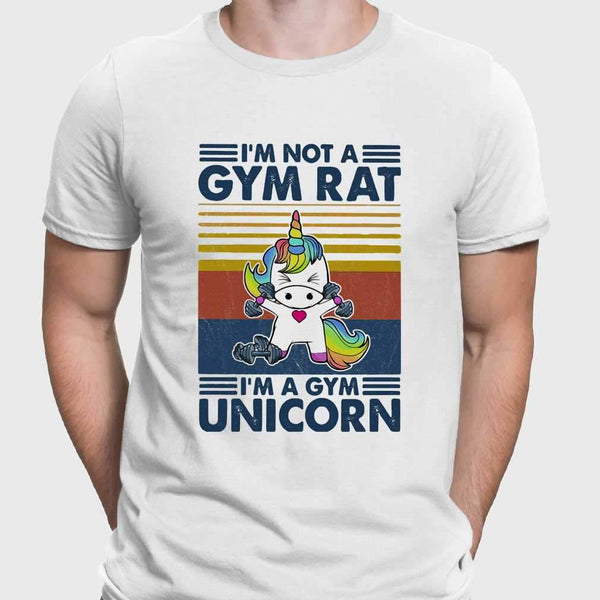 I'm Not A Gym Rat I'm A Gym Unicorn Fitness Vintage T-shirt S By AllezyShirt