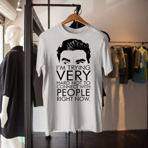 I'm Trying Very Hard Not To Connect With People Right Now Shirt M By AllezyShirt