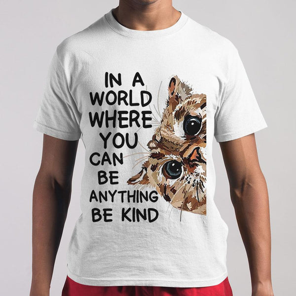 In A World Where You Can Cat Art T-shirt S By AllezyShirt
