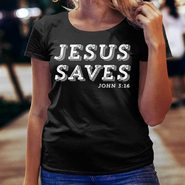 Jesus Saves Message Of Salvation Christian Faith Religion T-shirt M By AllezyShirt