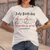July Birthday 2020 The Year When Got Real #quarantined Shirt S By AllezyShirt