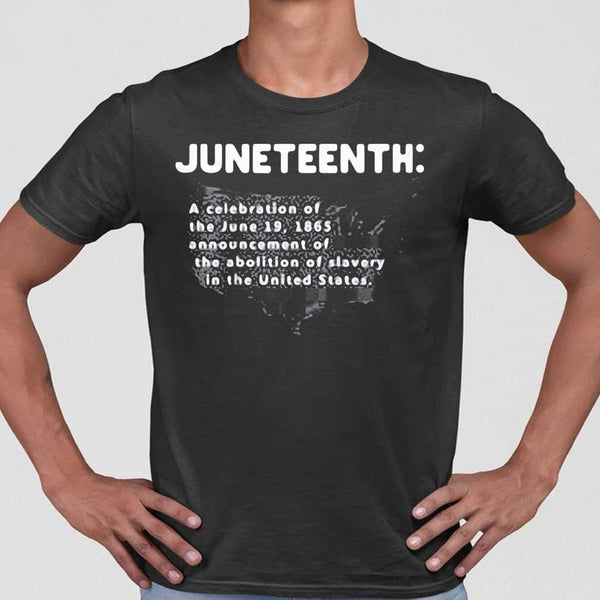 Juneteenth A Celebration Of The June 19 1865 Announcement Of The Abolition Of Slavery In The United States Map T-shirt M By AllezyShirt