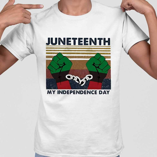 Juneteenth My Independence Day Vintage T-shirt M By AllezyShirt