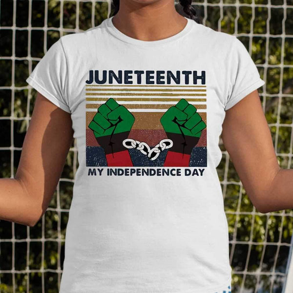 Juneteenth My Independence Day Vintage T-shirt S By AllezyShirt