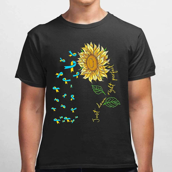 Just Down Right Perfect Spina Bifida Awareness Sunflower T-shirt M By AllezyShirt