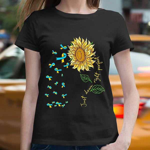 Just Down Right Perfect Spina Bifida Awareness Sunflower T-shirt S By AllezyShirt