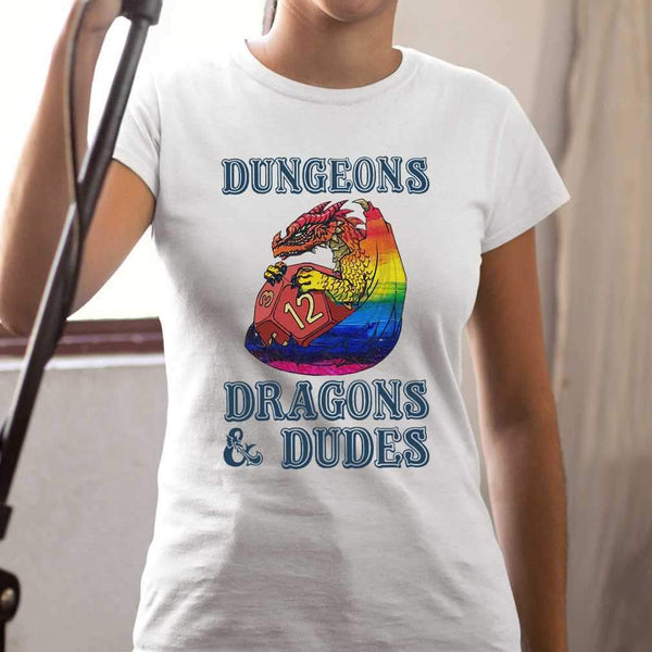 LGBT Dungeons Dragons Dudes T-shirt S By AllezyShirt