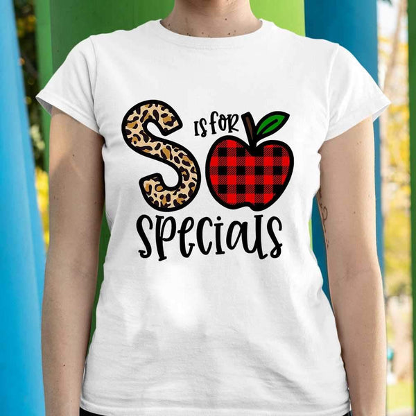 L Is For Specials Teacher Apple Buffalo Plaid T-shirt S By AllezyShirt