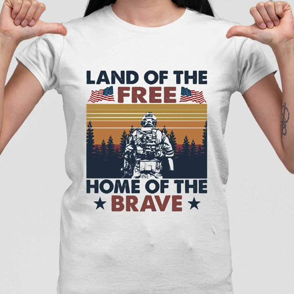Land Of The Free Home Of The Brave Vintage T-shirt M By AllezyShirt