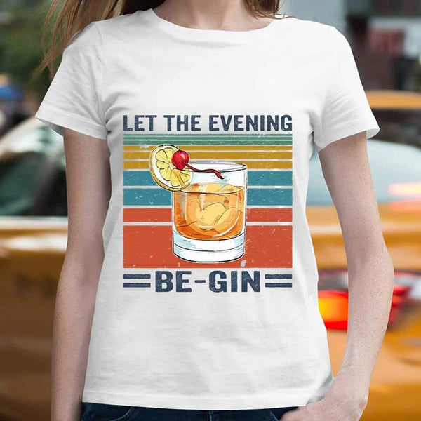 Let The Evening Be Gin Vintage T-shirt M By AllezyShirt