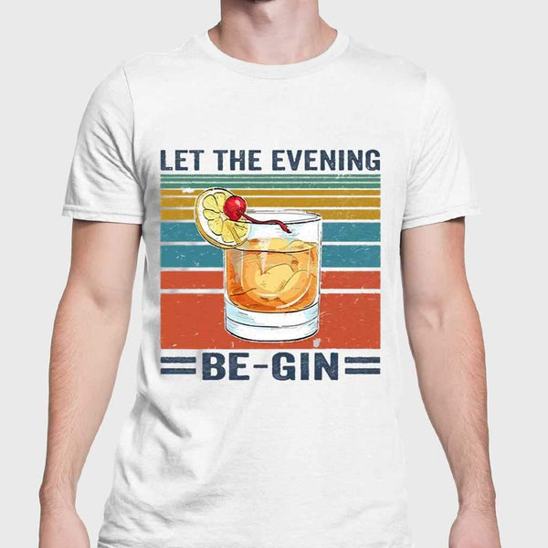 Let The Evening Be Gin Vintage T-shirt S By AllezyShirt