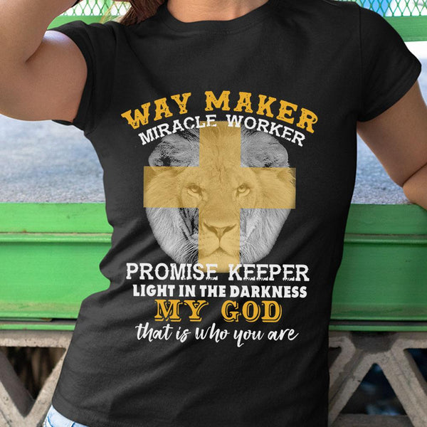 Lion Way Maker Miracle Worker Promise Keeper My God Shirt S By AllezyShirt