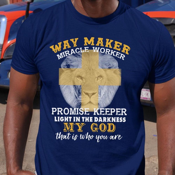 Lion Way Maker Miracle Worker Promise Keeper My God Shirt M By AllezyShirt