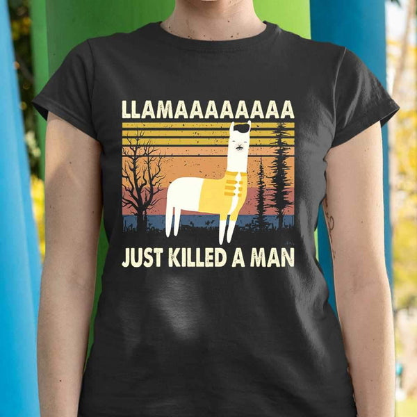 Llama Just Killed A Manssss T-shirt M By AllezyShirt