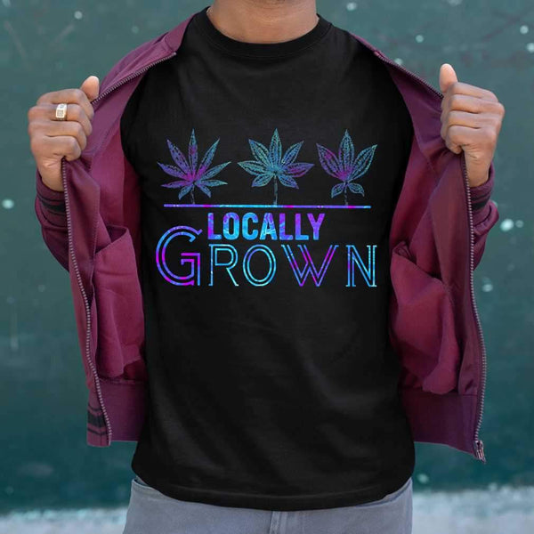 Locally Grown Weed Colorful T-shirt S By AllezyShirt