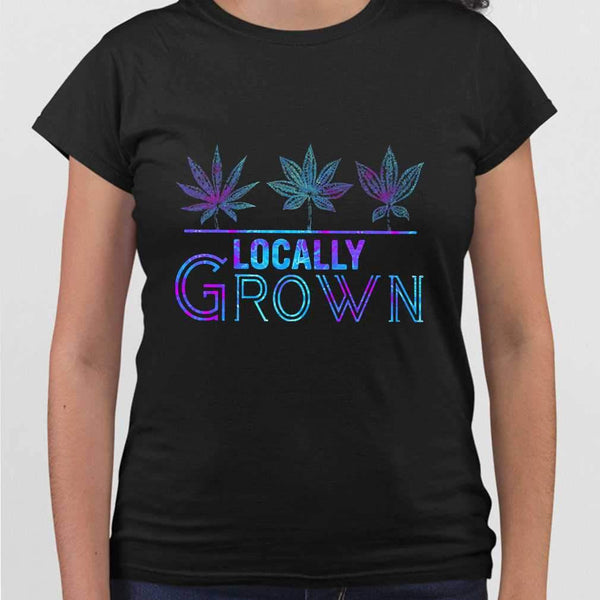 Locally Grown Weed Colorful T-shirt M By AllezyShirt