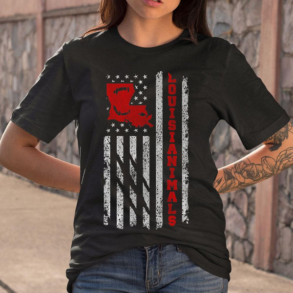 Louisianimal Xxl New Orleans Louisiana American Flag Animal Shirt S By AllezyShirt