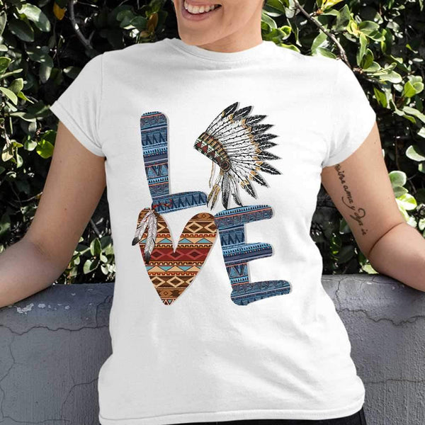 Love Native American Style T-shirt S By AllezyShirt