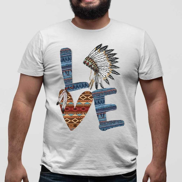 Love Native American Style T-shirt M By AllezyShirt