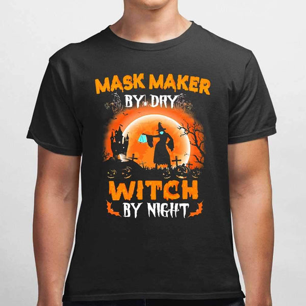 Maks Maker By Day Witch By Night Halloween Blood Moon T-shirt S By AllezyShirt