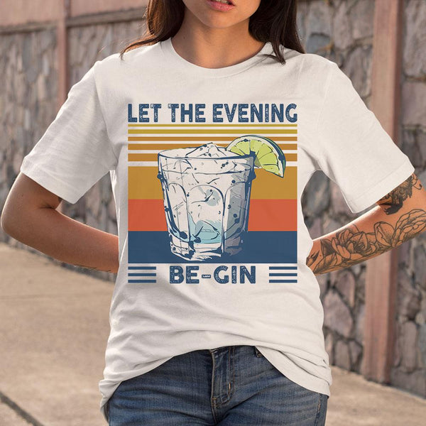 Martini Cocktail Let The Evening Be Gin T-shirt S By AllezyShirt