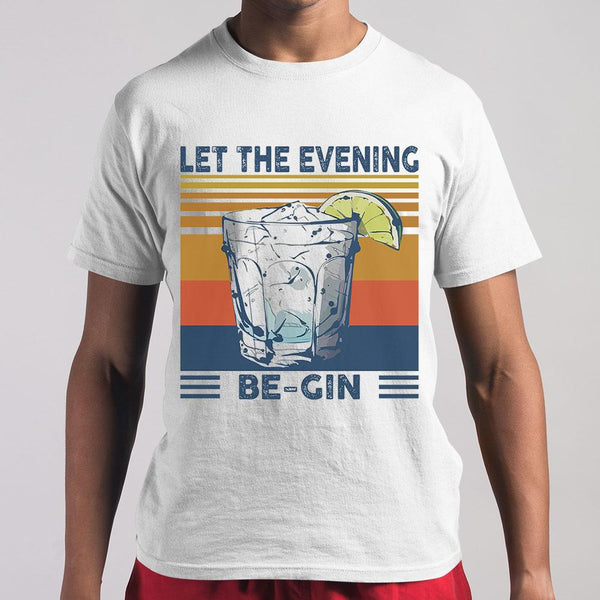 Martini Cocktail Let The Evening Be Gin T-shirt M By AllezyShirt