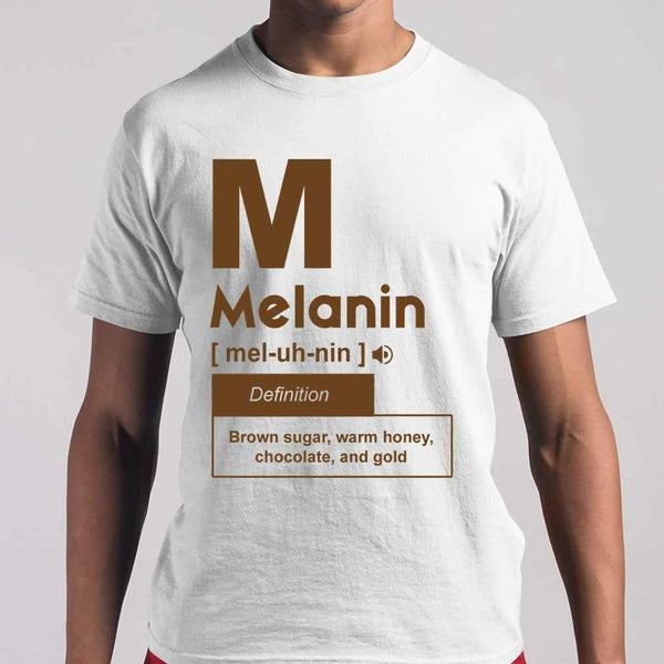 Melanin Definition Brown Sugar Warm Honey Chocolate And Gold T-shirt S By AllezyShirt