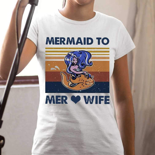 Mermaid To Mer Love Wife Vintage T-shirt S By AllezyShirt