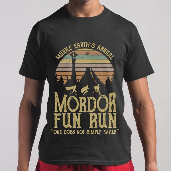 Middle Earth's Annual Mordor Fun Run One Does Not Simply Walk Vintage T-shirt M By AllezyShirt