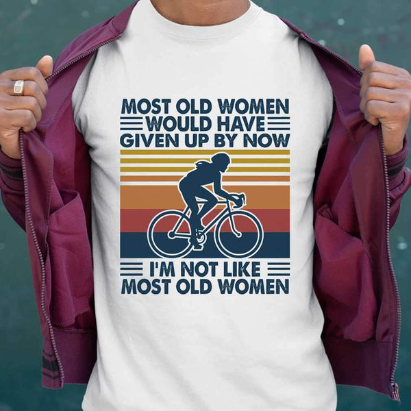 Most Old Women Would Have Given Up By Now Cycling Vintage Retro T-shirt M By AllezyShirt