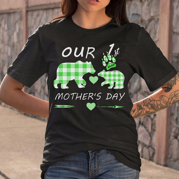 Mother Bear Our 1St Mother's Day T-shirt S By AllezyShirt