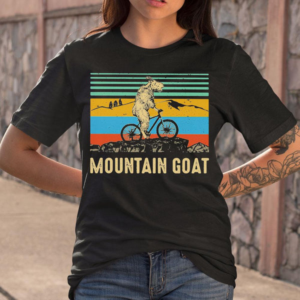 Mountain Goat Ride Bicycle Vintage Shirt S By AllezyShirt