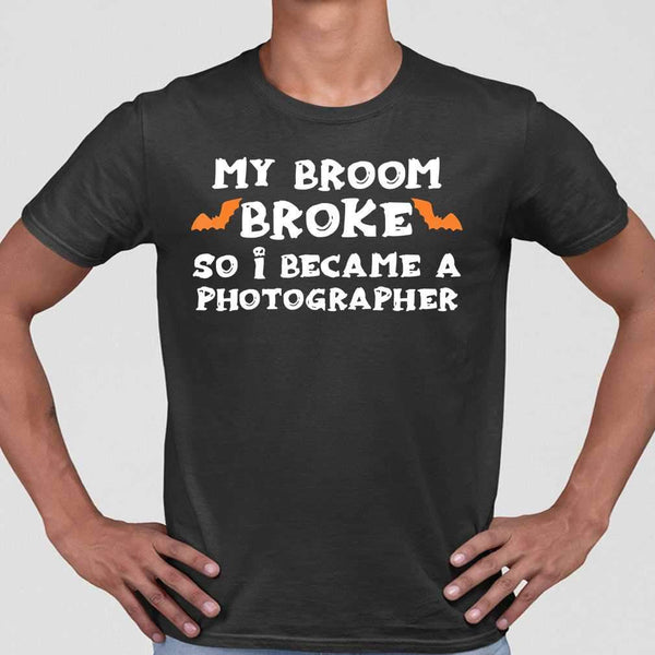 My Broom Broke So I Became A Photographer Halloween T-shirt S By AllezyShirt