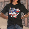 My Country With Many Heeler American Flag Shirt S By AllezyShirt
