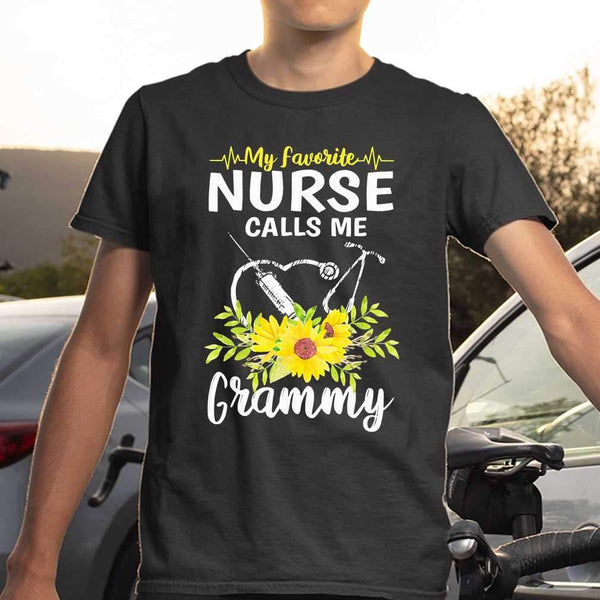 My Favorite Nurse Calls Me Grammy Sunflowers T-shirt S By AllezyShirt