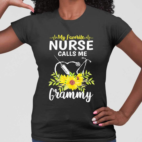 My Favorite Nurse Calls Me Grammy Sunflowers T-shirt M By AllezyShirt