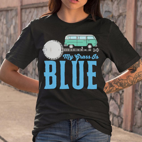 My Grass Is Blue Banjo T-Shirt M By AllezyShirt