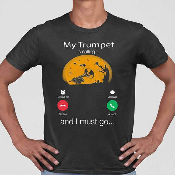 My Trumpet Is Calling And I Must Go Moon Halloween T-shirt S By AllezyShirt
