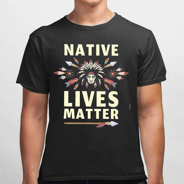 Native Lives Matter Chief T-shirt M By AllezyShirt